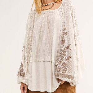 "FREE PEOPLE ""Indigo Dreams Tunic"" NWT"